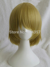 Cosplay! Synthetic wigs Love live! Koizumi Hanayo Cosplay wig short mixed color Anime Full Hair Wigs+ Free wig cap Free Shipping(China (Mainland))