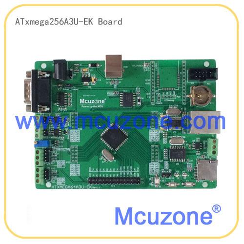 ATxmega256A3U-EK development board,12Bit ADC and DAC,7 USARTs, PDI, USB Device, XMEGA, Ethernet, CAN, RTC XMEGA256A3U ATMEL(China (Mainland))