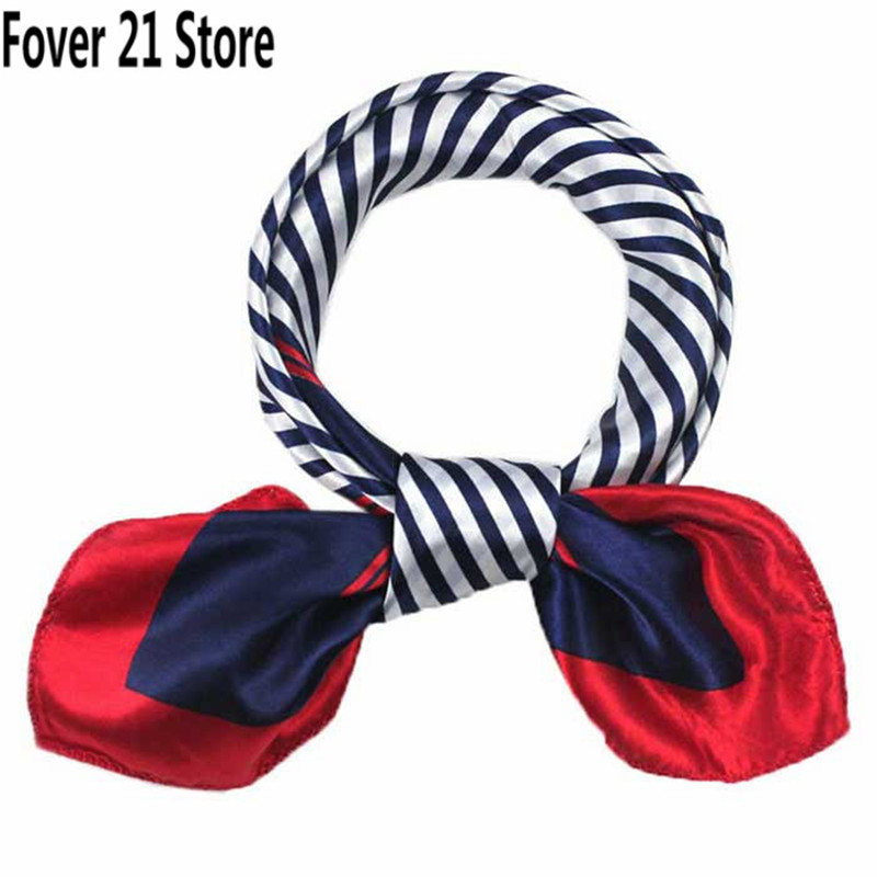 Hot Selling Fover 21 Fashion Women Printing Pattern Square Scarf Head Wrap Kerchief Neck Shawl Free Shipping Wholesale(China (Mainland))