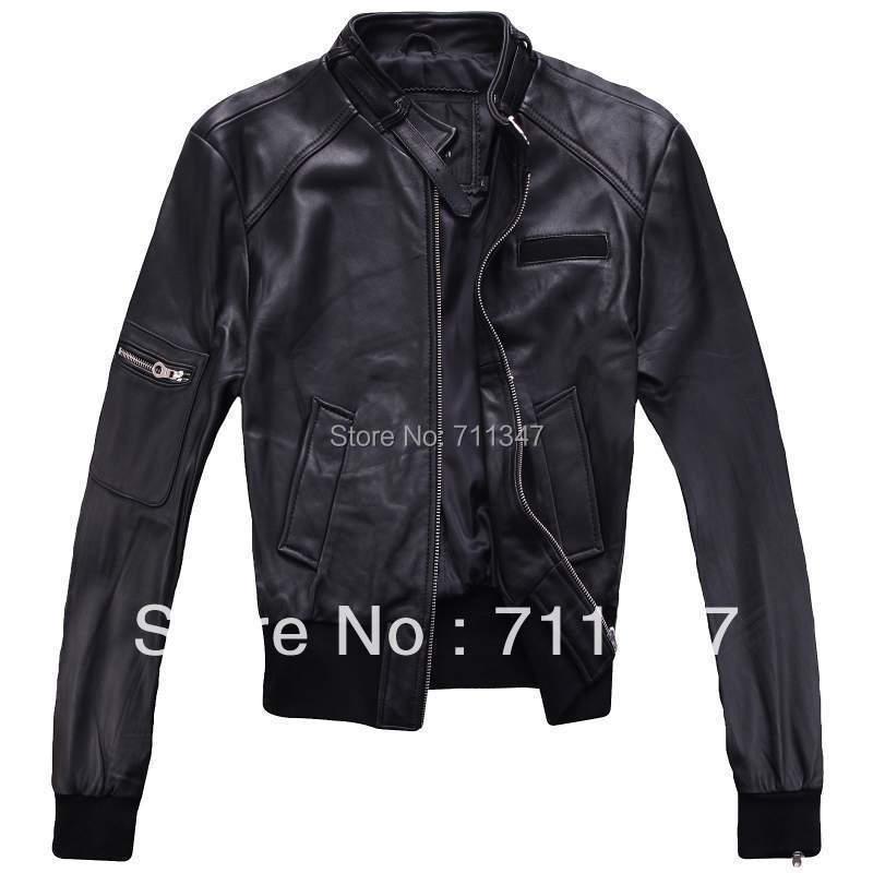 Free Shipping! Lady /Women's 100% Genuine  Leather Jacket.
