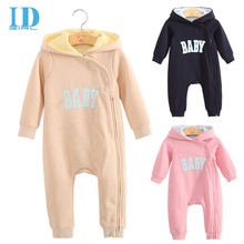 IDGIRL Spring Autumn Baby Boy Clothes Baby Rompers Newborn Clothing One Piece Baby Jumpsuit  Hooded Baby Clothes JY01850(China (Mainland))