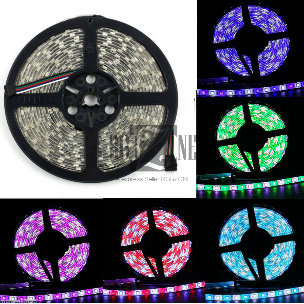 RGBZONE 5M 5050 RGB & White RGBW Non-Waterproof SMD 300 Led Flexible Strip Housing Light(China (Mainland))