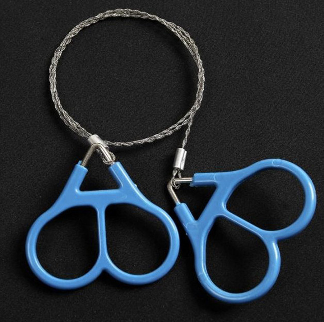 Free Shipping Plastic Ring Steel Wire Saw Scroll Saw Emergency Outdoor Hunting Camping Hiking Survival Tool 2pcs/lot(China (Mainland))