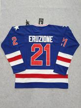 SexeMara 1980 Miracle On Ice #21 Mike Eruzione USA Hockey Jersey White Blue S-XXXL Free Shipping(China (Mainland))