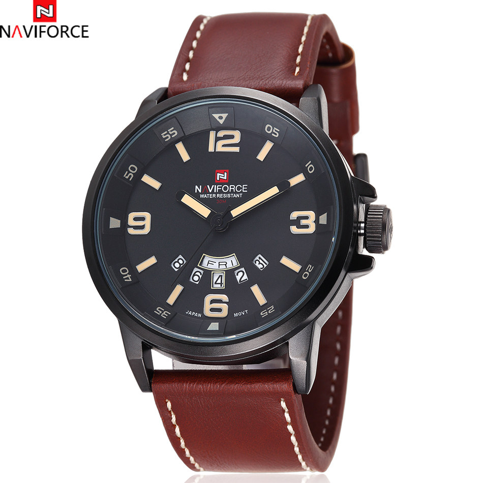 2016 Naviforce Fashion Brand Mens Date Day Hours Quartz Clock Army Military Men Sport Watch Relogio Masculino Free Ship<br><br>Aliexpress