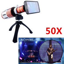 Buy Apexel Aluminum 50X Zoom Telescope Lens Samsung Galaxy S4 i9500 hige grade tripod 50X camera telephoto lens CL-48 for $98.99 in AliExpress store