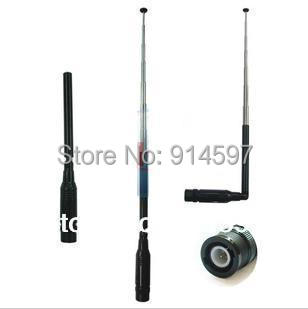 Free shipping NA-774 dual band VHF+UHF telescopic antenna BNC for radio ICOM IC-V8 IC-V80 IC-V82 IC-V85 walkie talkie(China (Mainland))