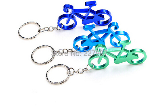 The cheapest whosesale aluminum sport bike shaped bottle opener keychains,bicycle beer opener ring.promotion gift.mix colors(China (Mainland))