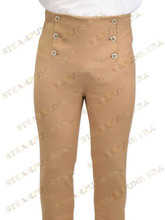 Popular Camel Cotton Fabrics Mens Steampunk Trousers