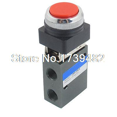 "G1/4"" 2 Position 3 Way Momentary Air Pneumatic Mechanical Valve(China (Mainland))"