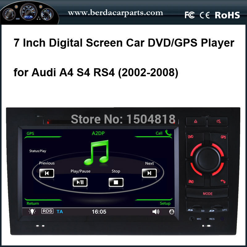 car entertainment touch screen car DVD player for Audi A4,S4,RS4 with IPod/IPhone 4/4S audio input ,built-in GPS(China (Mainland))