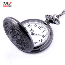 Vintage Bronze doctor who design pocket Watch Necklace Ladies Necklace Silver Pendant Watch Quartz wholesale price