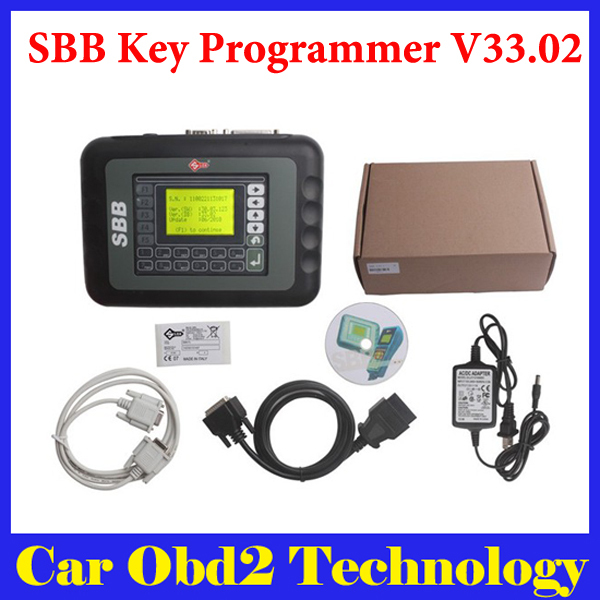 [2pcs/lot ] Auto Key Programmer SBB V33.02 Silca SBB Immobilizer Key Maker 9 Languages For Multi-Brand Cars by DHL Free(China (Mainland))