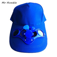2016 Novelty Sun Solar Power Hat Cap with Cooling Fan for Outdoor Golf Mountain Climbing Baseball Hats(China (Mainland))