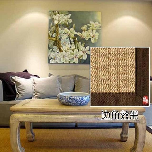 Sisal linen carpet home living room coffee table carpet bedroom desk carpet customize