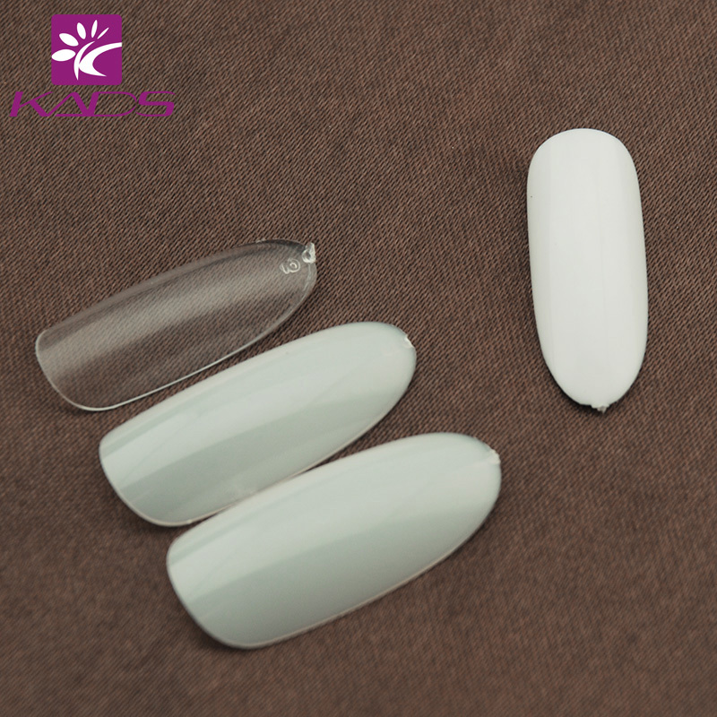 500 Nail Tips Natural full cover French Acrylic Artificial False fingernails Retail Salon Makeup Set IN STOCK free shipping(China (Mainland))