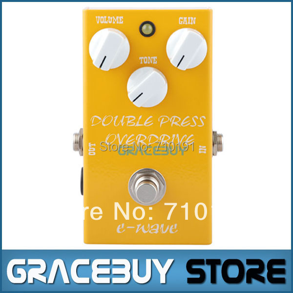 E-WAVE Electric Guitar Effect Double Press Power Overdrive Metal Casing Pedal True Bypass Musical Instrument<br><br>Aliexpress