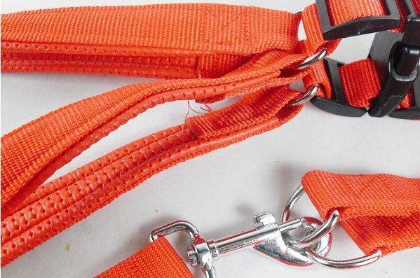 RED Blue  Large breed dog back set of nylon chest Dog Harnesses No.321 Dog Leads