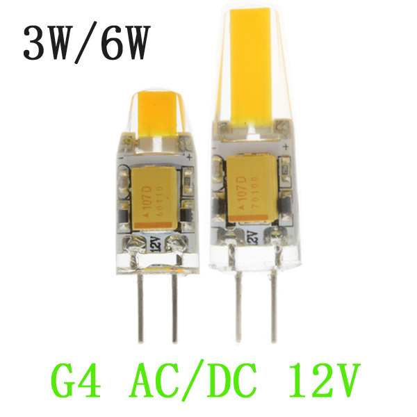 1pcs led g4 lamp bulb cob smd ac dc 12v 3w 6w led. Black Bedroom Furniture Sets. Home Design Ideas