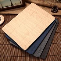 Brand Original Mooke Luxury Wood Grain Flip Ultra Thin Foldable Stand Leather Case Smart Cover For ipad mini 1/2/3 Retina Shell