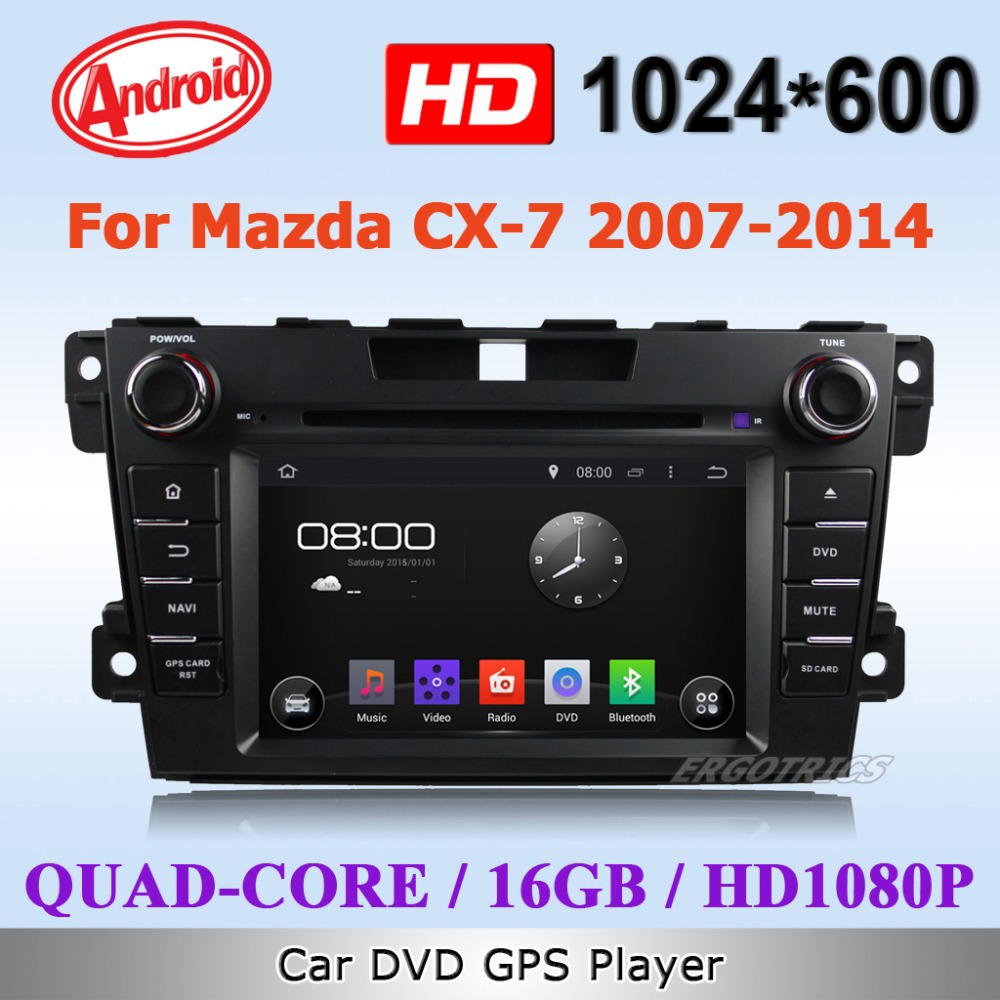 Android 4.4 Quad Core Car DVD player for Mazda CX-7 CX7 2012 2015 3G WiFi GPS Navigation radio RDS HD 1080P OBD IPOD TV Free Map(China (Mainland))
