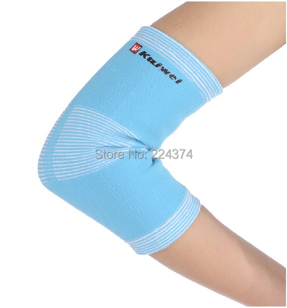 -2015 New Arrivel Sky Blue High Quality Elastic Elbow Guard Pad Protector Spring Support Elbow Brace Elbow Support Brace Sleeve(China (Mainland))