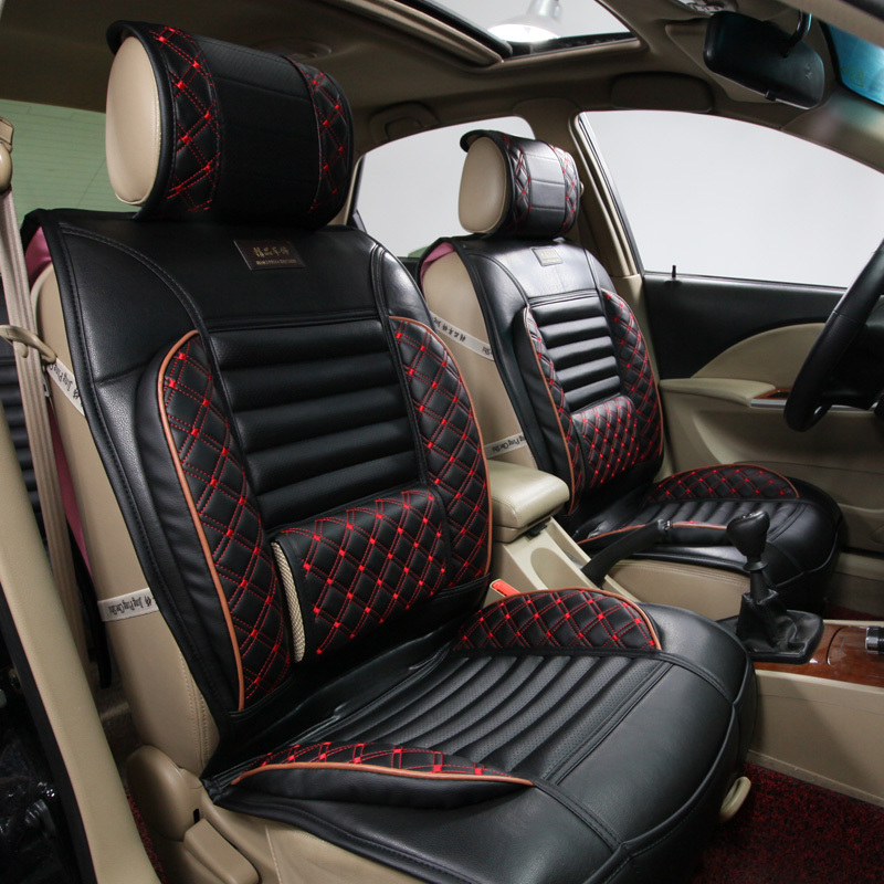 2pillows as gift high quality embroidery danny leather car seat cover universal luxury car seat. Black Bedroom Furniture Sets. Home Design Ideas