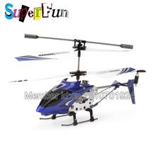 Wholesale Syma S107 blue 22cm 3CH Mini Remote Control Helicopter RTF. Free Shipping.
