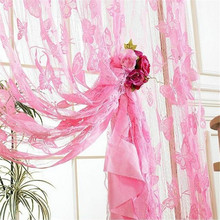 2015 New Tassel Window Decor Heart-Shaped String Door Curtains Brand Design Romantic Thin Voile High Quality Free Shipping N909(China (Mainland))