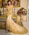 2016 Halter Neck Sheer Mermaid Evening Dresses Long Luxurious Sequins Appliques Backless Vestido De Festa Largos