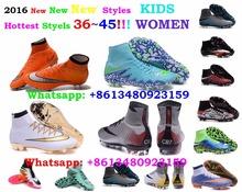 2016 superflies Mens Womens Kids Boys Girls mercury mAGiSTa ObRA LeAtHer sOCcER AG CR7 fG foot a crampons BoOTs EUR36-46 JI22(China (Mainland))