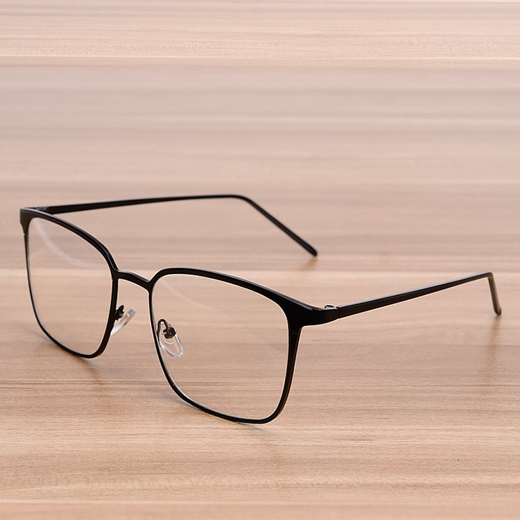 NOSSA Women And Men's Big Square Metal Glasses Frame Myopia Spectacle Frames Clear Lens Fashion Gold Eyeglasses Optical Goggles