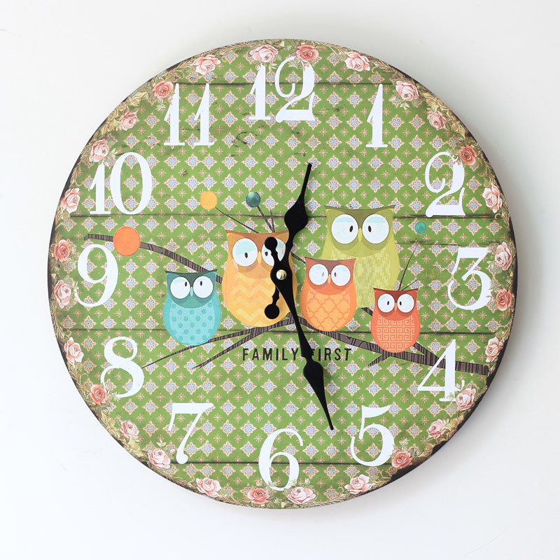 Wall Clock Owl Design : Aliexpress buy novelty cute decorative dotty owl