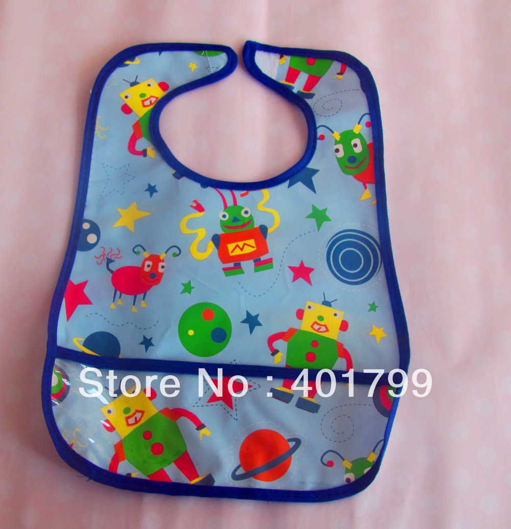 Free shipping 10PCS/LOT Cute Ladybug Kids waterproof PVC Apron Lovely Child Pinafore(China (Mainland))