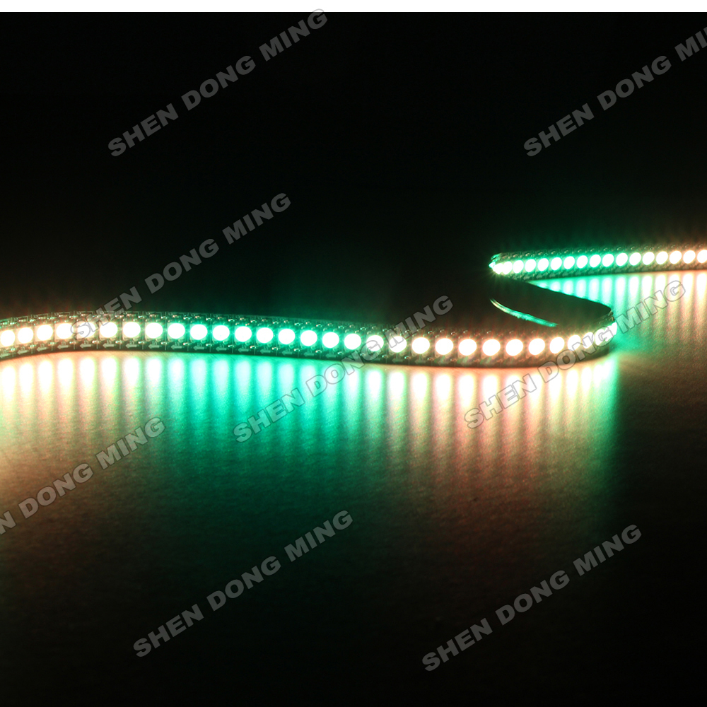 20M/Lot 2m/Roll DC 5V 144LEDs/M 144IC/m IC WS2812 LED Strip RGB 5050 Waterproof IP67 SMD Fita de LED Tira Diode Neon Light Lamp(China (Mainland))