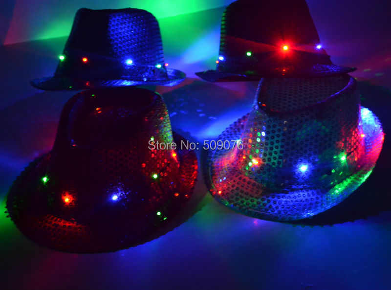 Free shipping 5pcs/lot 5color novelty hat led flashing hat Fashion Men's Colourful cap for event party supplies(China (Mainland))
