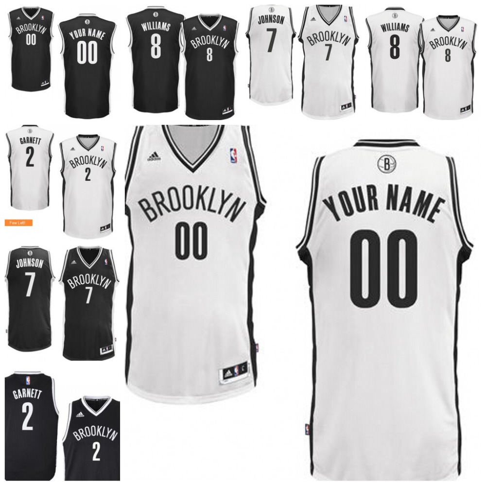 Mens Brooklyn Nets Deron Williams Joe Johnson Kevin Garnett custom made any name any number(China (Mainland))