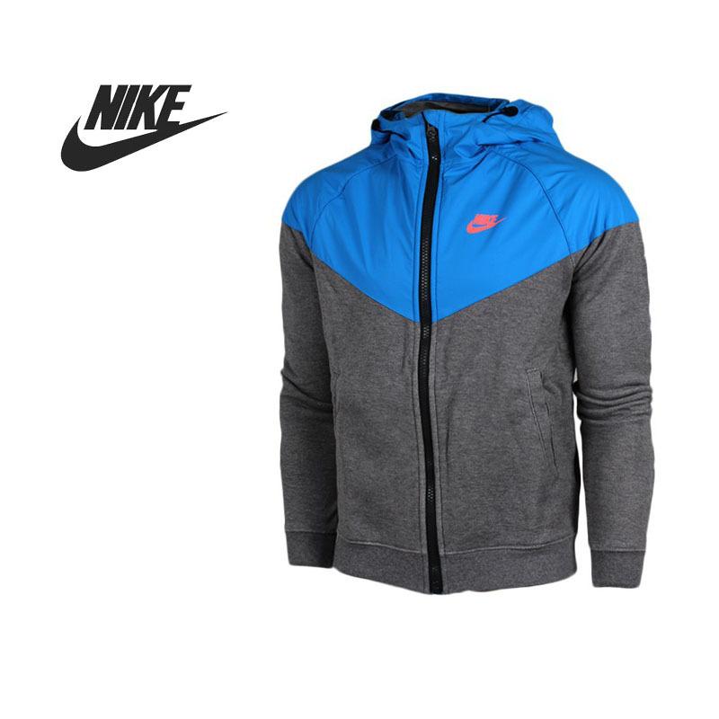 Original Nike Men's Jacket Hooded Patchwork sportswear - GlobalSports Store store