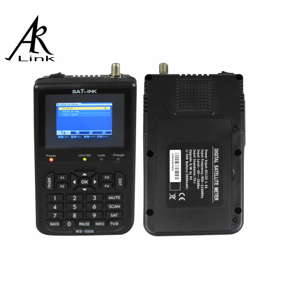 "1 pc Satlink WS-6906 3.5"" DVB-S FTA Data Satellite Signal Finder Meter satellite meter satellite finder ws 6906 satlink ws6906(China (Mainland))"
