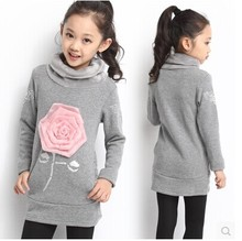 Female children's clothing han edition jacket fleece children new fund of 2014 autumn winters is more add wool fleece pullovers(China (Mainland))
