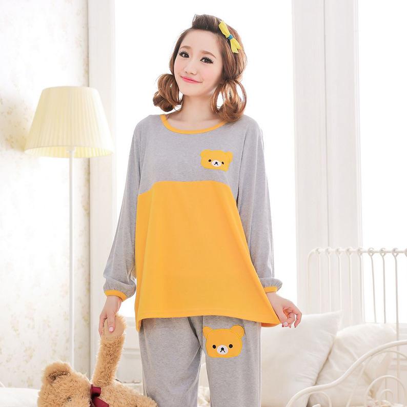 Best Selling!women cute bear with hoody fleece sleepwear ...