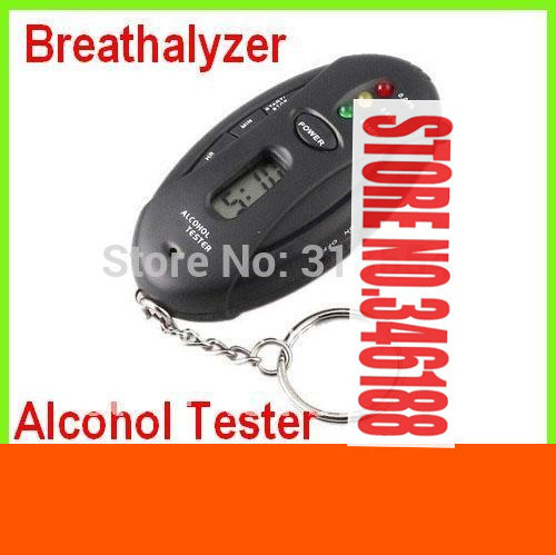 200pcs/lot # 3 in1 Analyzer Breath Alcohol Tester Breath Analyzer Breathalyzer Digital LCD Black Free Shipping(China (Mainland))