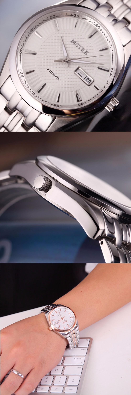 Марка мужская Роскошь Бизнес Часы self-ветер Автоматические Механические часы мужской Движение Сапфировое стекло Скелет Календарь Наручные часы