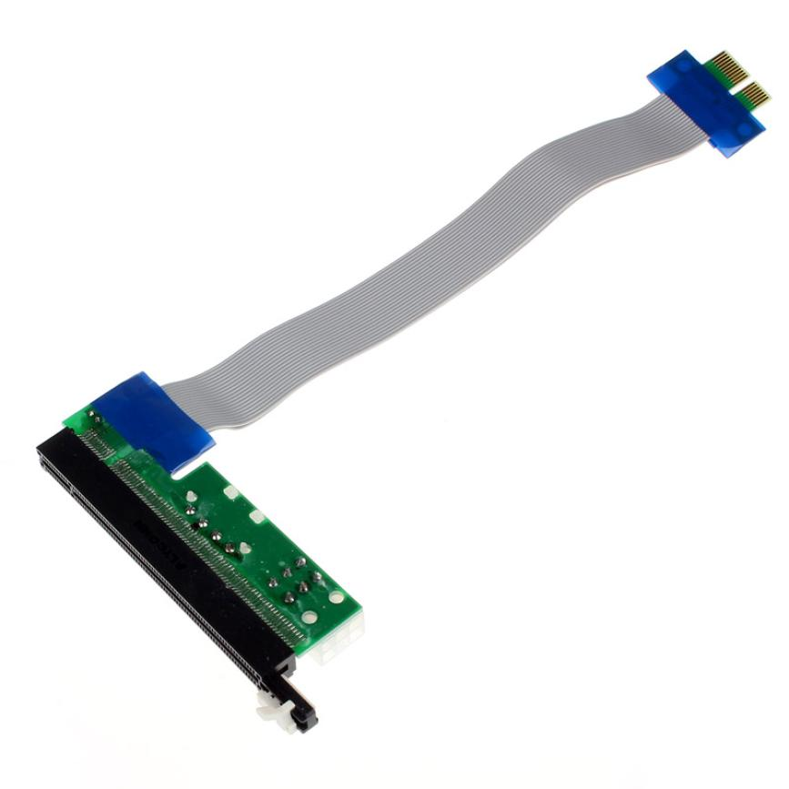 Factory price PCI-E Extention Cable Flex Ribbon 1X To 16X Riser Card Adapter Power Mfeb24<br><br>Aliexpress