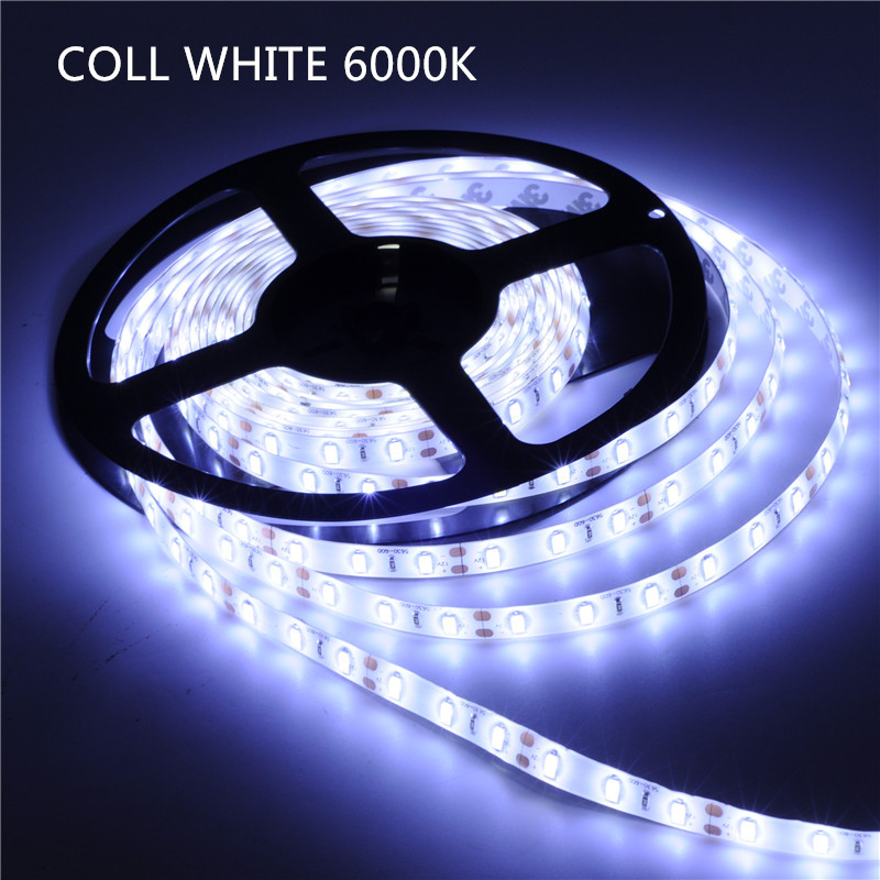 White/Warm White/Nature White,5M/roll 5630 SMD LED Strip 60LEDs/M Waterproof Flexible DC 12V Brighter than 5050 SMD<br><br>Aliexpress