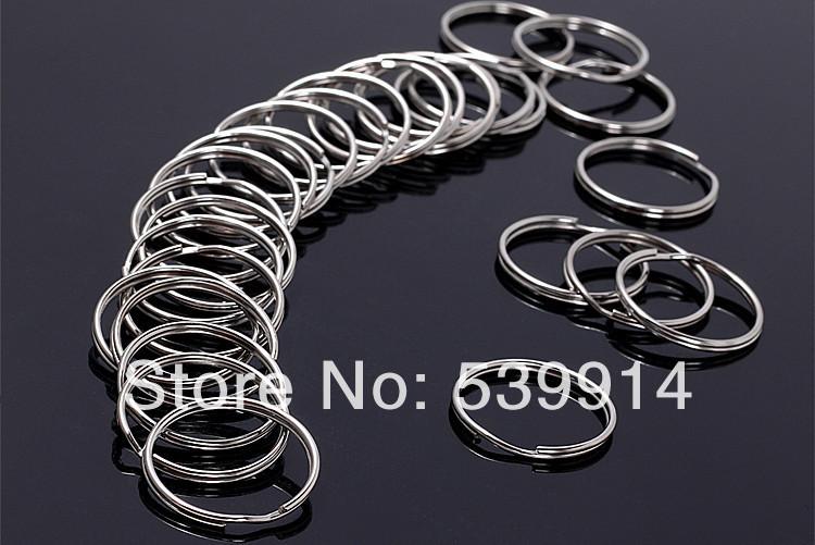 200Pcs/Lot Split Keyring 25mm Key Ring Chain Loop Pocket Photo Clasps Connectors(China (Mainland))