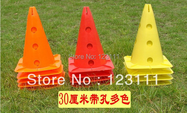"""12"""" Soccer Football Cross Dog Horse Training Cones Track Sport Agility Marking Cone Drilled Coaching Aids skating,skateboard"""