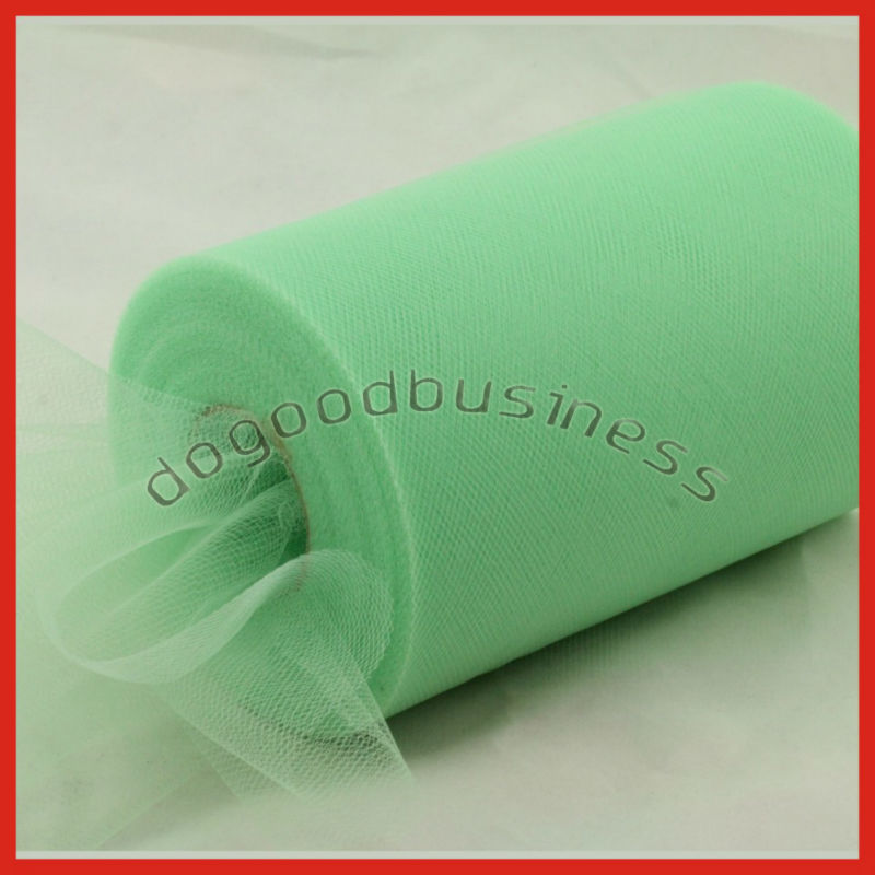 "Mint green Tulle Roll Spool 6""x100yard Tutu Wedding Gift Party Decorations Bow,Nylon Material Tutu Faric High quality(China (Mainland))"