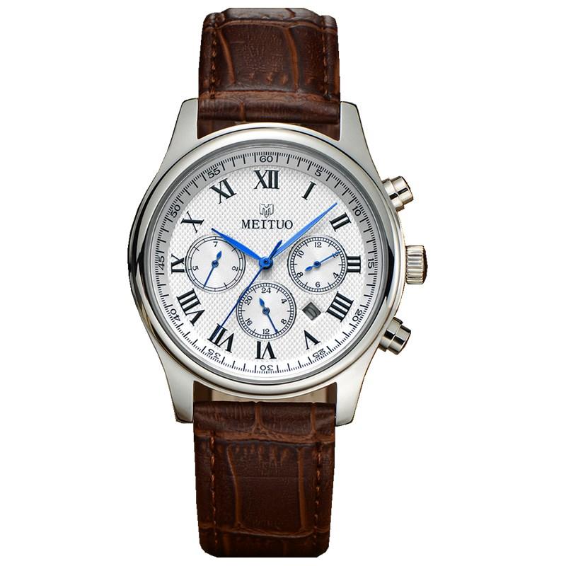 Quartz Watch Men Luxury Wrist Watches Mens Clock Men's Table Waterproof Man Wristwatch Gift Arabic Numbers Roman Leather(China (Mainland))