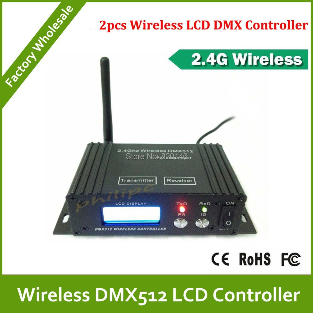DHL Free Shipping Wireless LCD DMX transmitter and receiver the sinal with XLR and PCB board(China (Mainland))